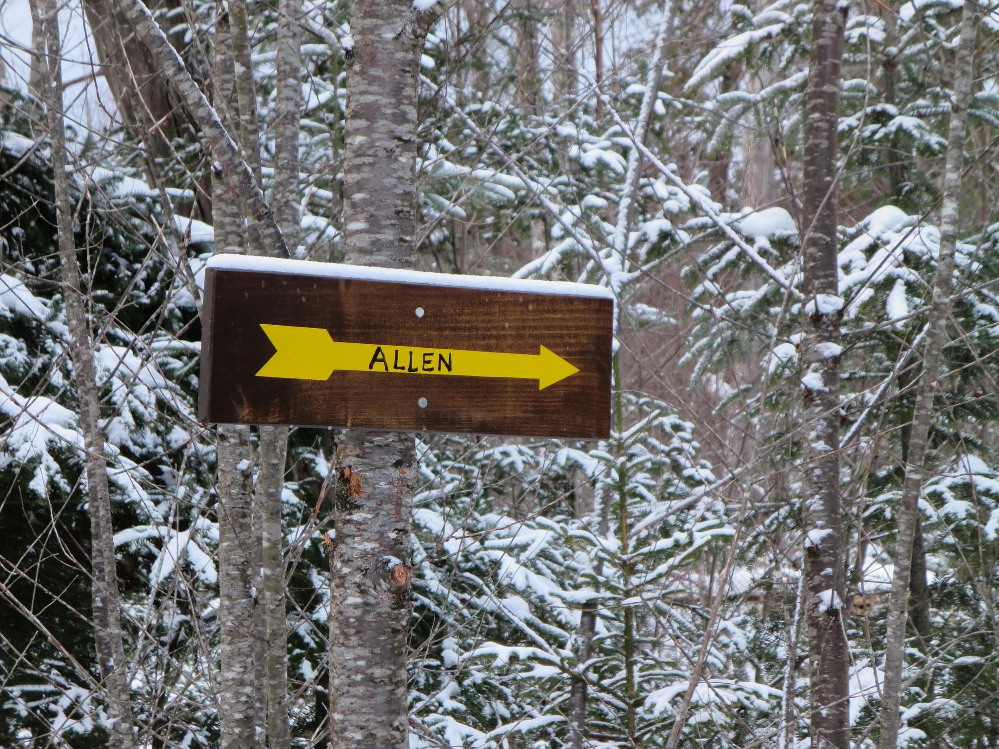 Allen trail-sign